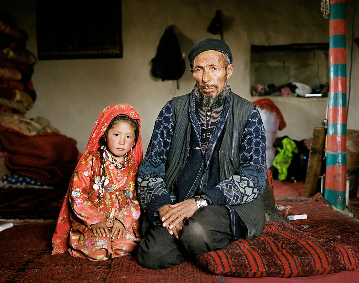 Kyrgyz (pictured) tend to be much wealthier than Wakhi people. They usually have hundreds of cattle and pay Wakhi men in cattle to work for them.
