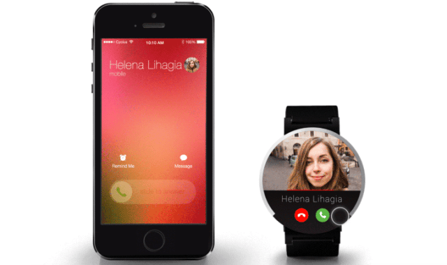 How will we do everything we love on our phones on a smart watch? Calling and Facetime could look like this, with big profile pictures and large but tons to accept a call or hang up.