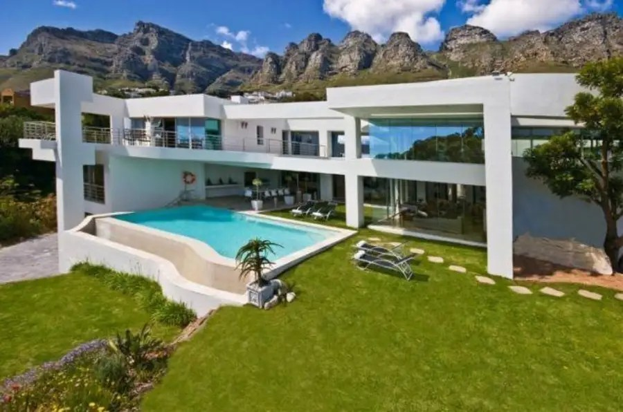 In Cape Town, $5 million buys a five-bedroom detached villa complete with an infinity pool, nine balconies, a home theater, and parking for 16 cars.