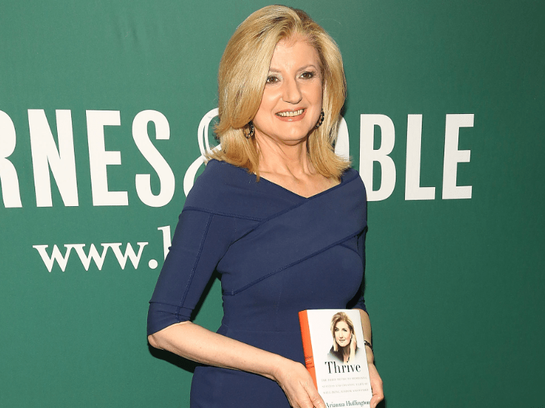 "Arianna Huffington only reads ""real books"" before bed."