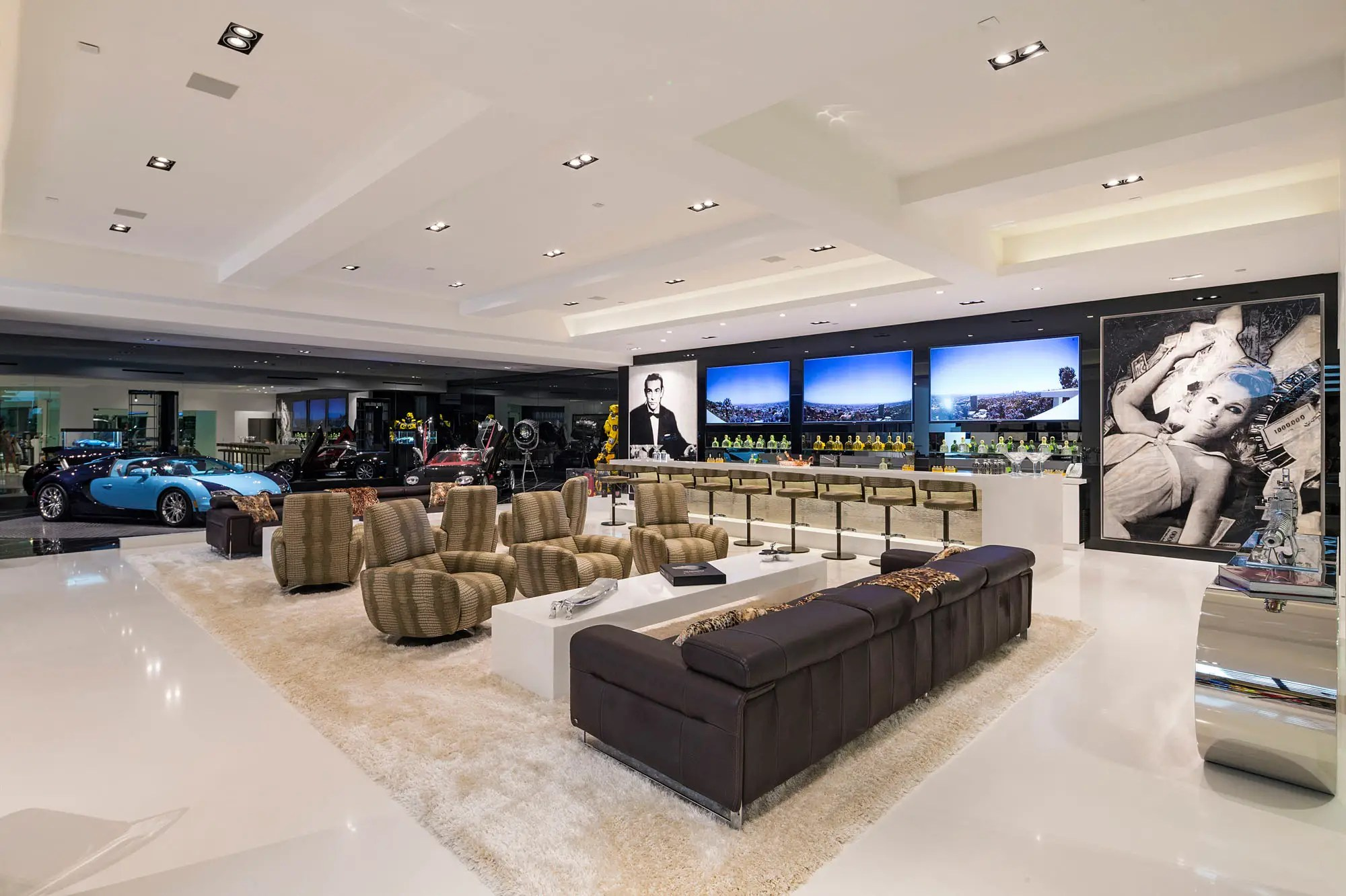 The basement is the ultimate man cave.