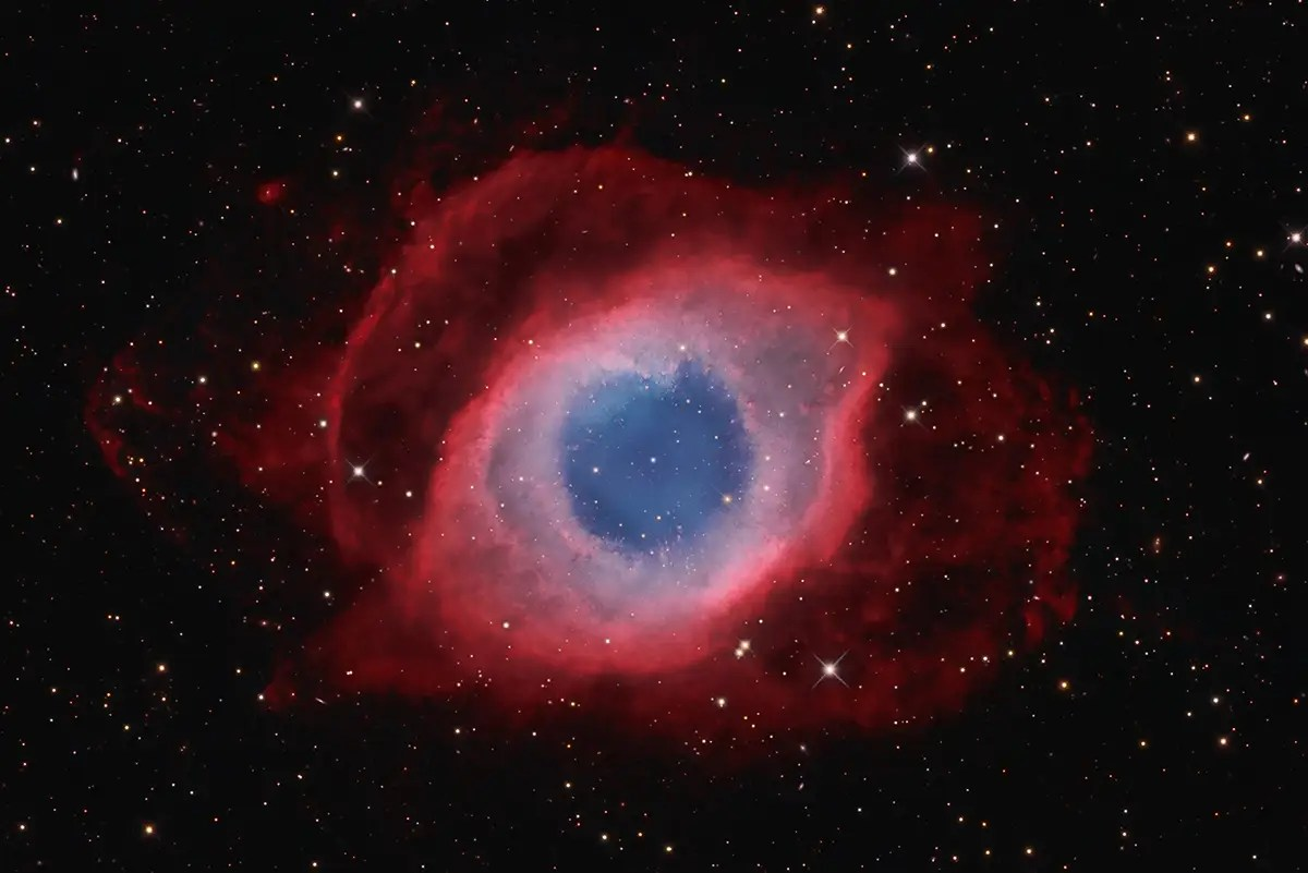 "This photo, named runner up in the ""Deep Space"" category, was taken by David Fitz-Henry from Australia. He photographed the Helix Nebula, one of the closest planetary nebula to Earth, which resembles an eye ""looking across 700 light years of space,"" as the photos caption puts it."