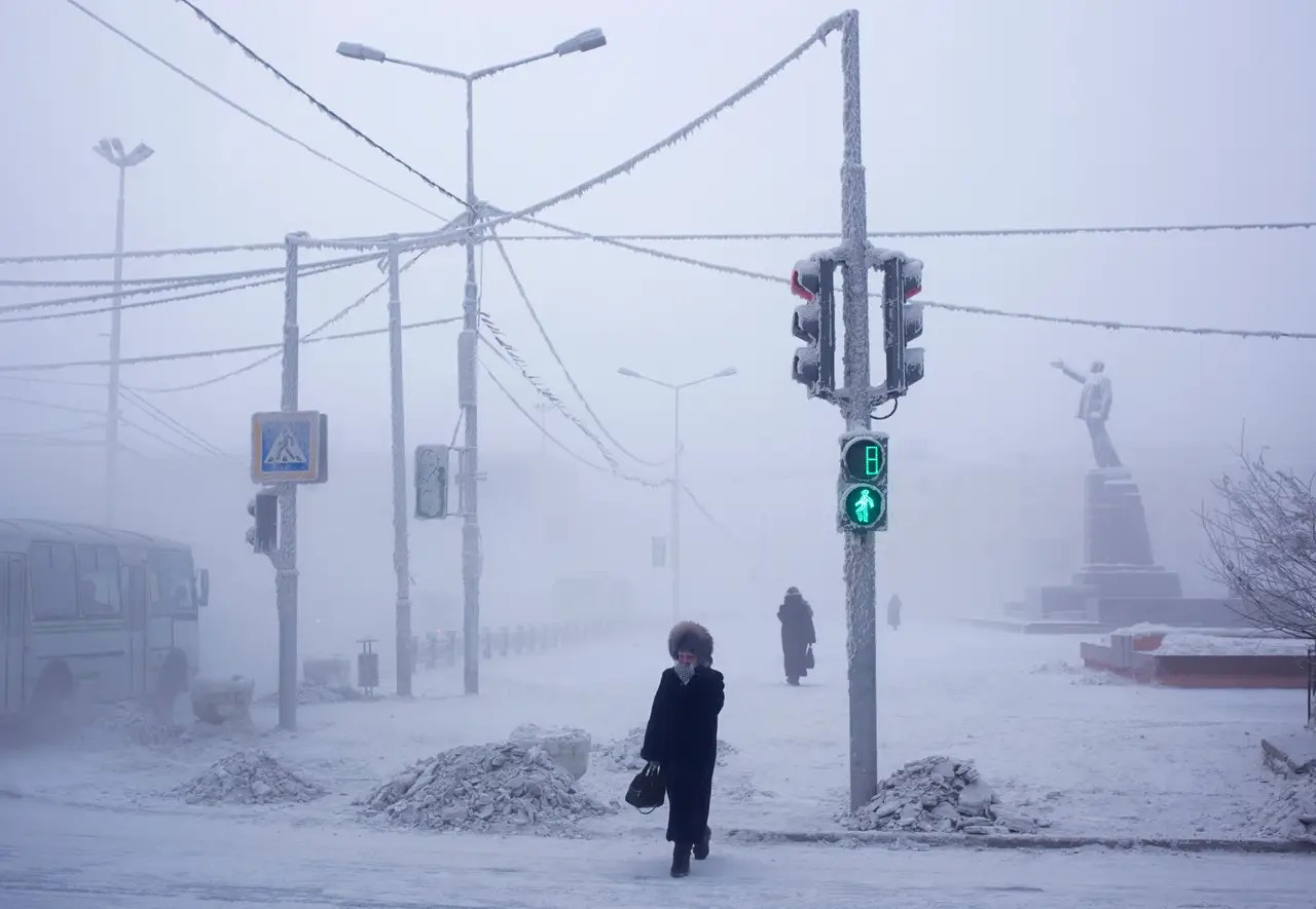 Amos Chapple started his journey in Yakutsk, the capital of the Sakha region of northeastern Russia. It is generally regarded as the coldest capital city in the world.