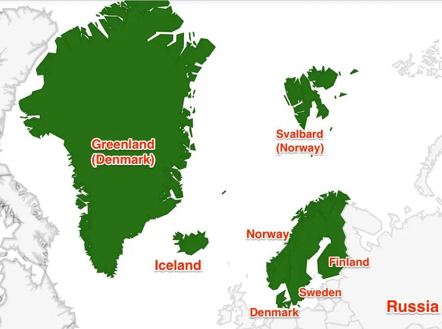 Nordic States map