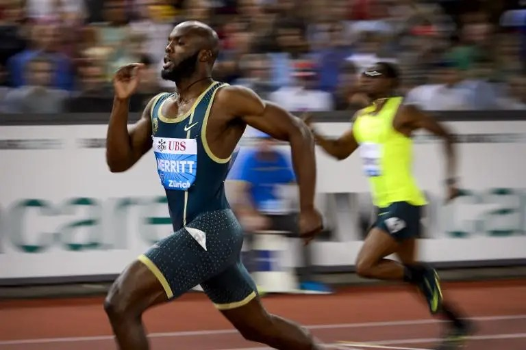World champion LaShawn Merritt, pictured at the Diamond League Athletics meeting Weltklasse, settled for second place behind rising star Machel Cedenio in the 400m at the Ponce Grand Prix athletics meeting