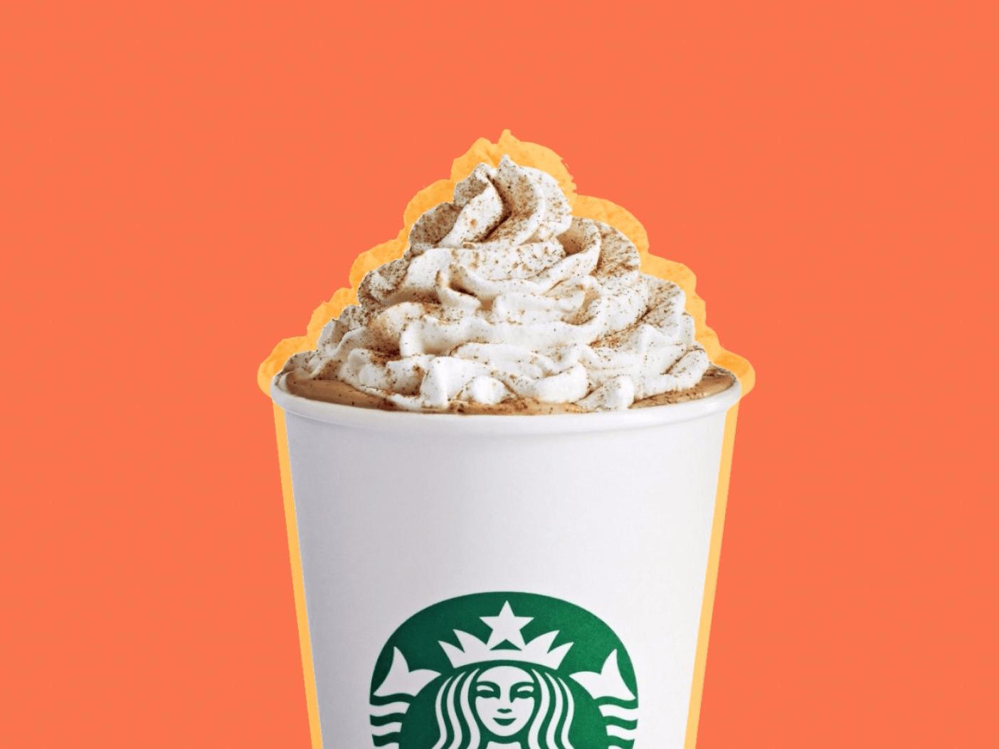 Image result for pumpkin spice latte starbucks