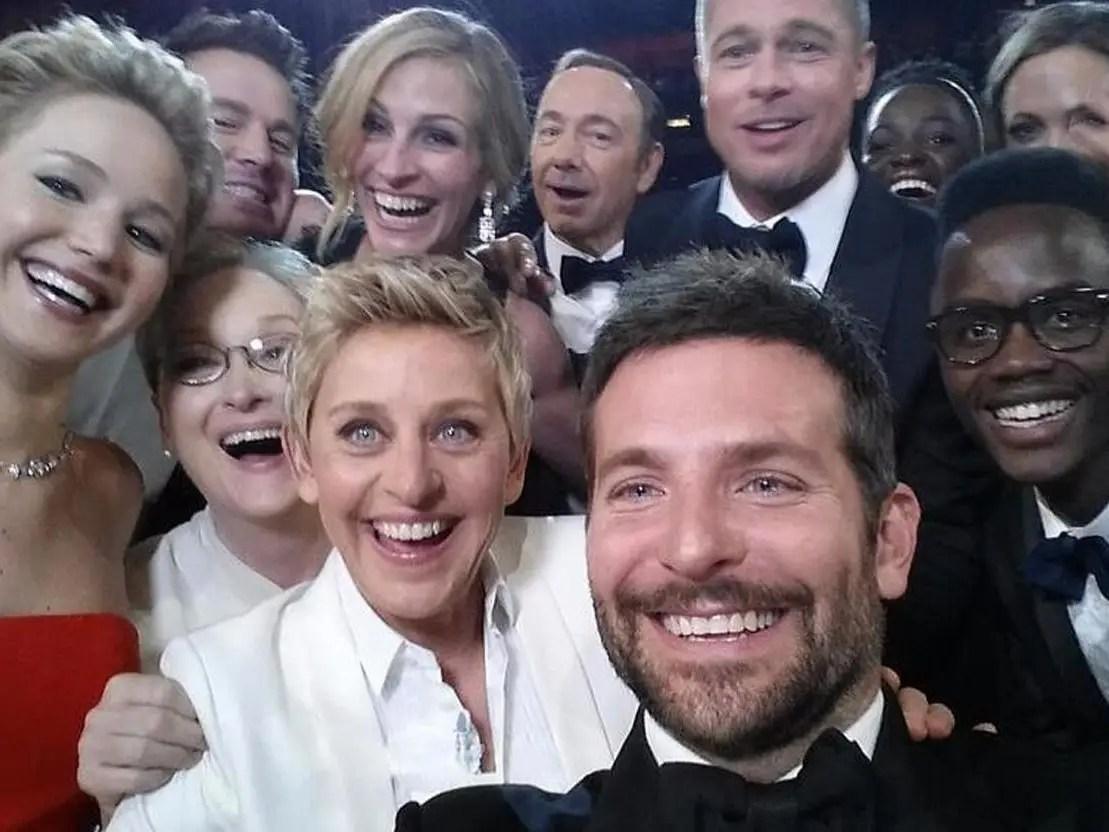 oscar selfie ellen degeneres