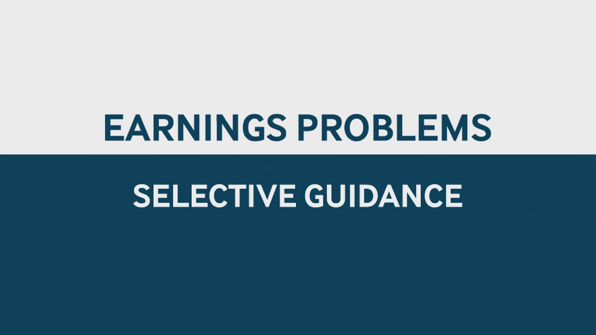 These earnings that cherry-pick what's accounted for are fallacious.