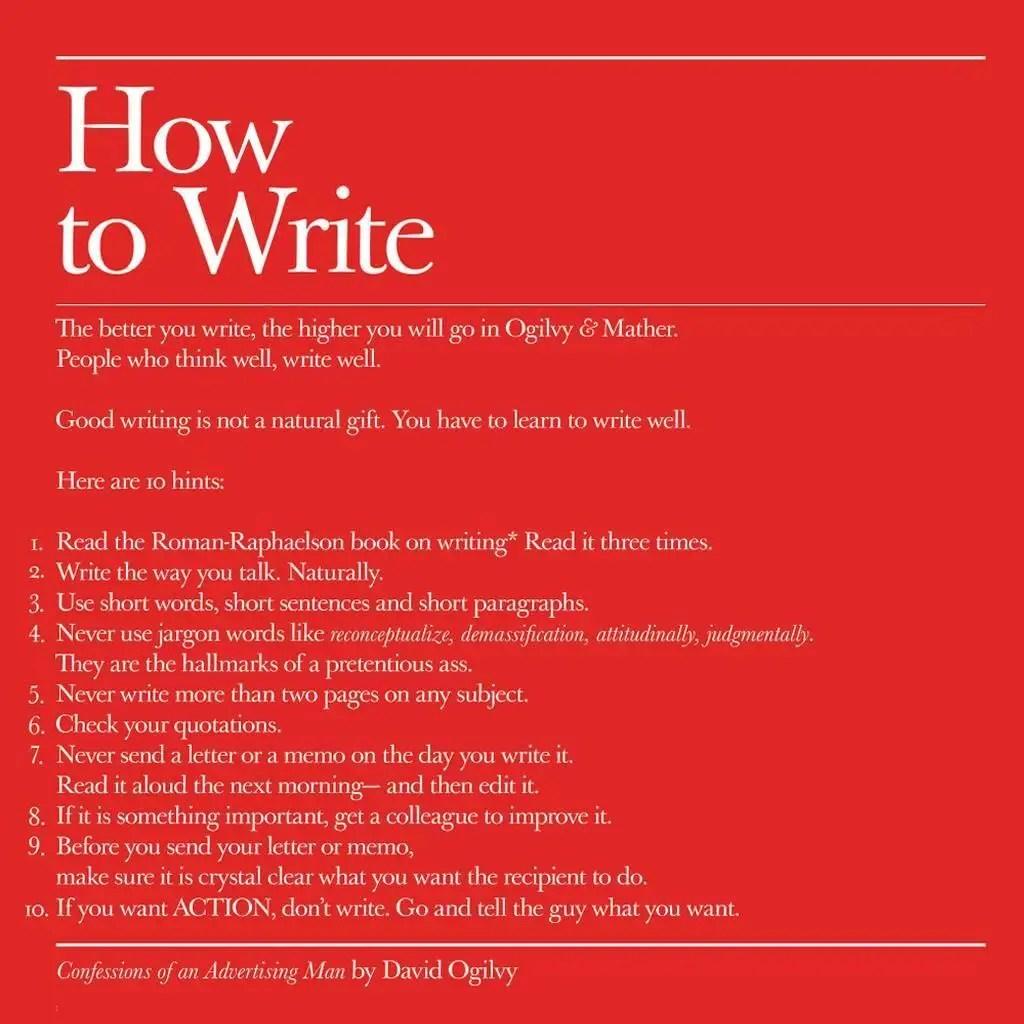 David Ogilvys 10 tips on how to write  Business Insider