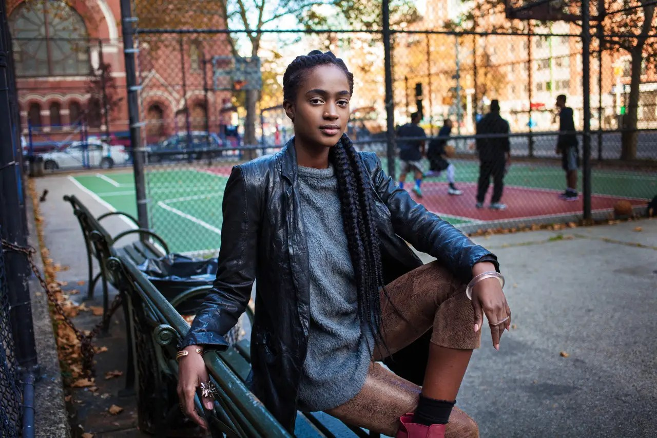"""""""Usually, in Western countries, I'm never refused [when I ask to take a picture],"""" Noroc says. This woman poses in Harlem, New York."""