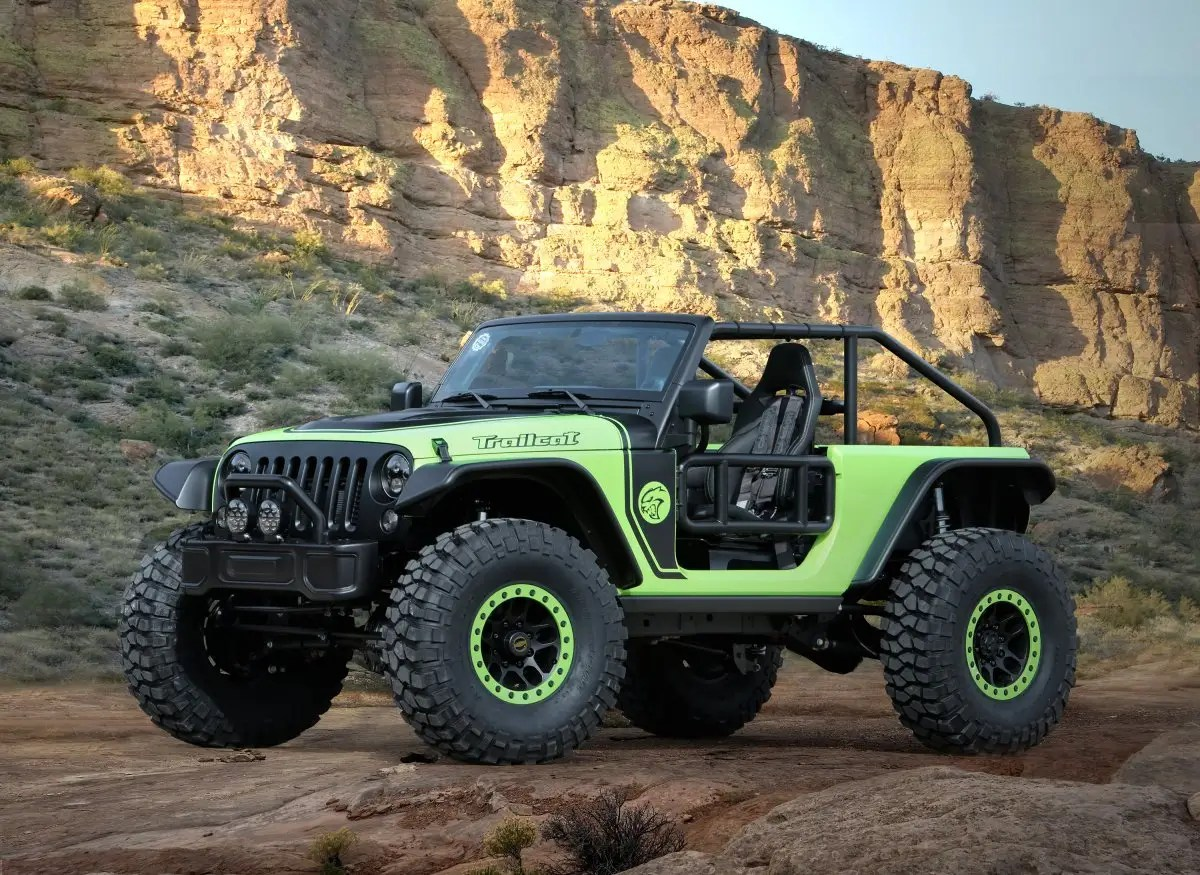 12. Jeep showed off a crazy looking wrangler in March at the Easter Jeep Safari, an off road rally.