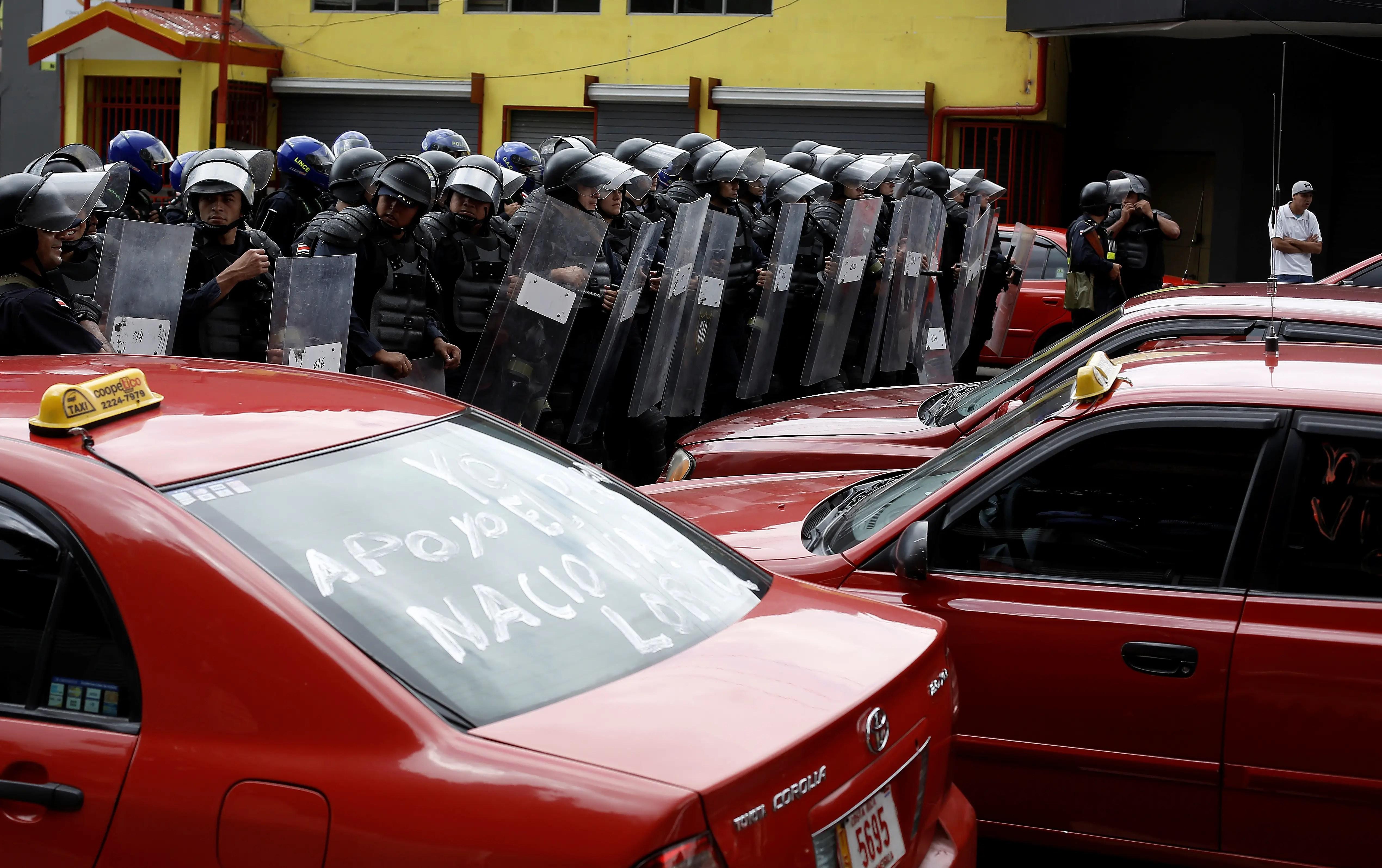 Uber protest Costa Rica Latin America