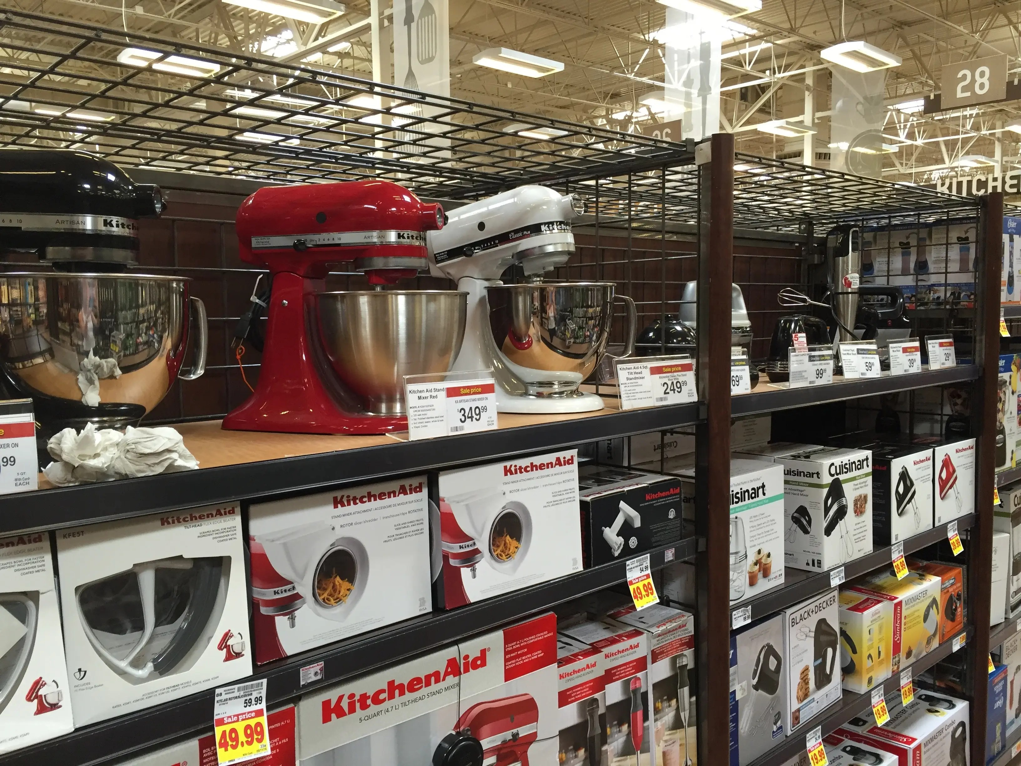 ... from standing mixers and microwaves to mini refrigerators and blenders.