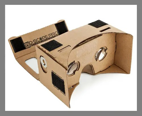 A Google Cardboard viewer