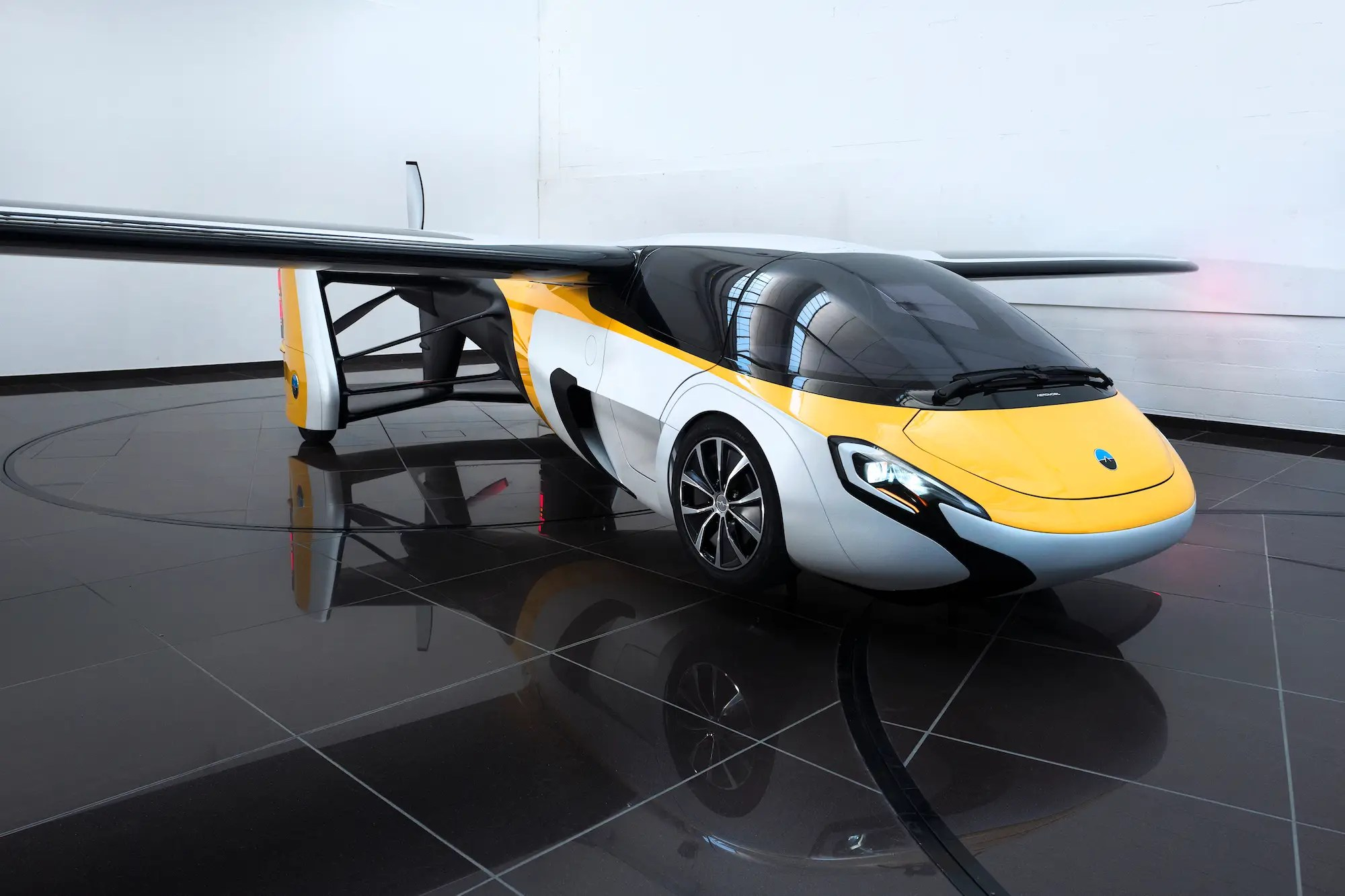 AeroMobil says the vehicle can transform into flight mode in less than 3 minutes. As a car, it has a top speed of 100 mph (160 kph) and can drive for 434 miles (700 km).