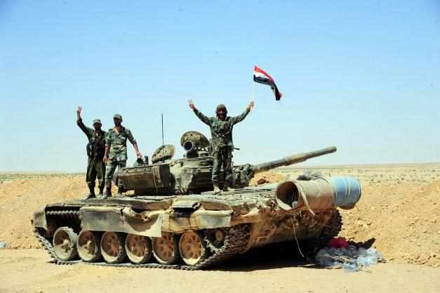 Syria Badia al Tanf tank Bashar Assad