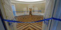 Photos: White House, Oval Office under construction ...