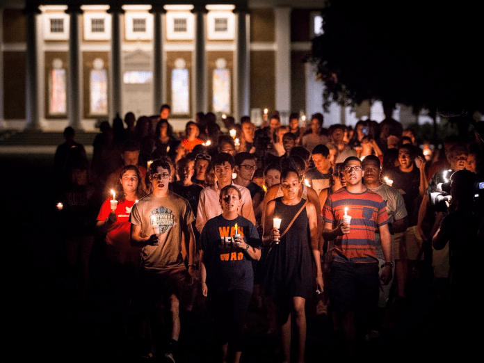 University of Virginia vigil Why hate came to the progressive island of Charlottesville Why hate came to the progressive island of Charlottesville 20900972101557025436583312571245472461669837o