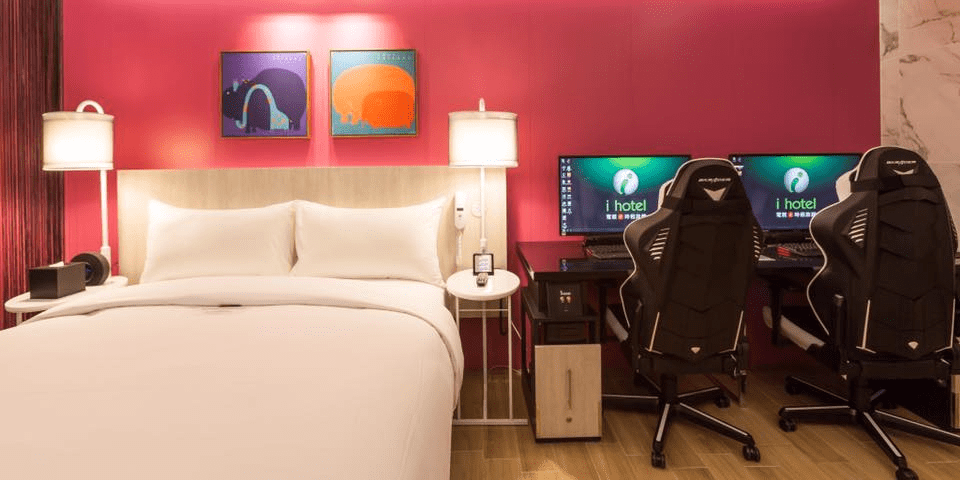 gaming chairs pc lime green dining ihotel in taiwan has pcs every room - business insider