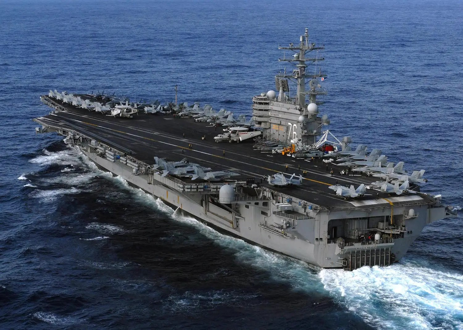 The USS Ronald Reagan just finished a three-day drill in the Sea of Japan with a Japanese destroyer and two Indian warships.