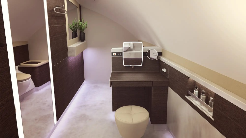 ...Two bathrooms. One of which features a sit-down vanity.