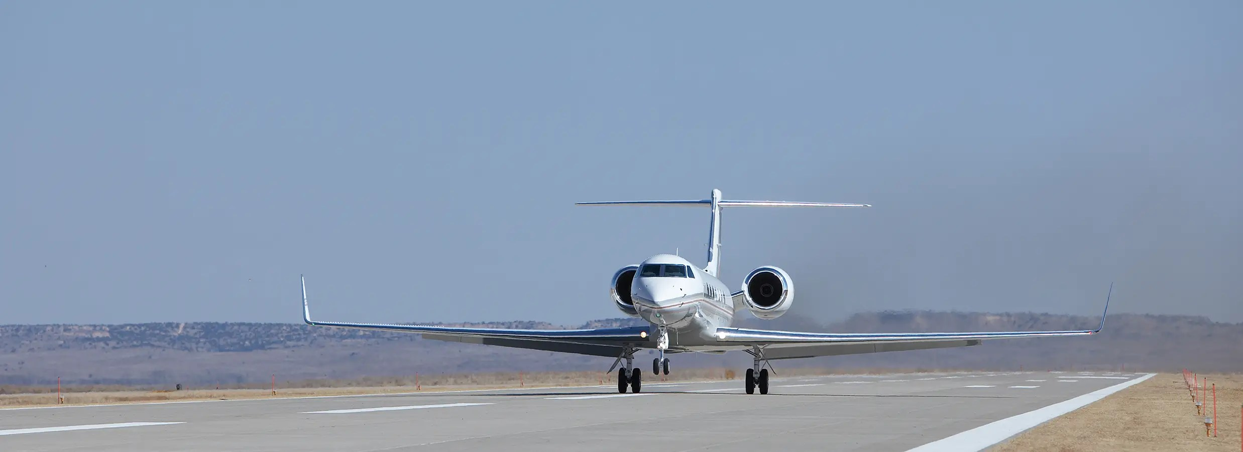 The ranch has an airport, approved by the Federal Aviation Administration, with a 52,600-square-foot concrete tarmac.