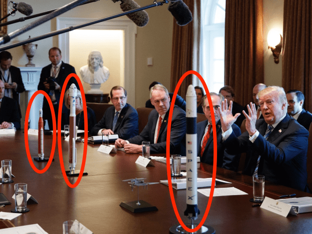white house cabinet meeting donald trump space rockets sls nasa AP_18067611291221 labeled
