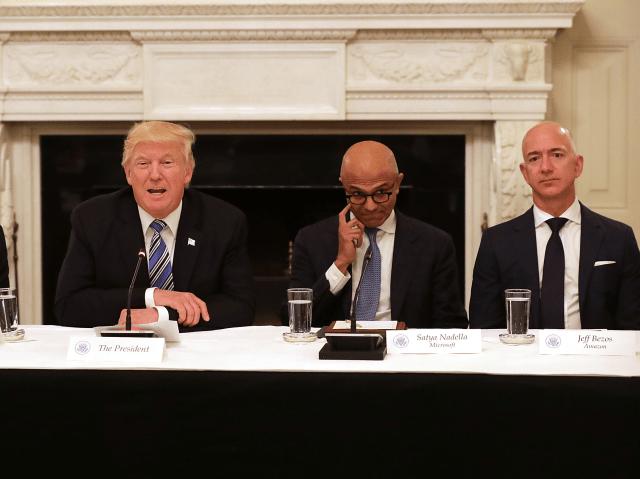 Trump Tech Tim Cook Satya Bezos
