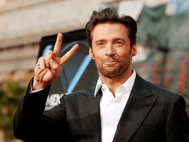 hugh jackman peace sign