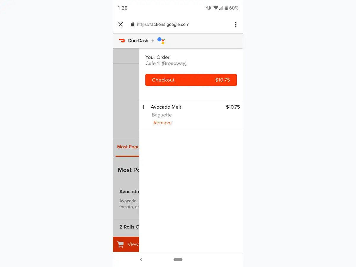 Google just made it super easy to order food from DoorDash, Postmates and other delivery services without using their apps, here's how to do it (GOOG, GOOGL)
