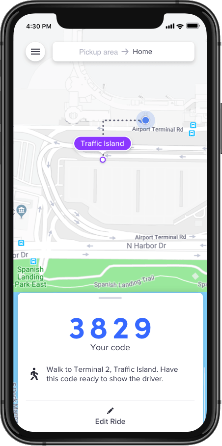 Lyft fast match airport pickup