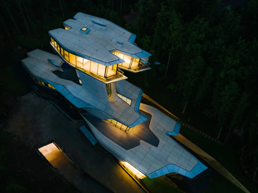 Look Inside A Billionaire Developer S 140 Million Spaceship House In A Russian Forest Which Has An Underground Nightclub And A Master Bedroom That Soars 100 Feet In The Air Dailyexchange
