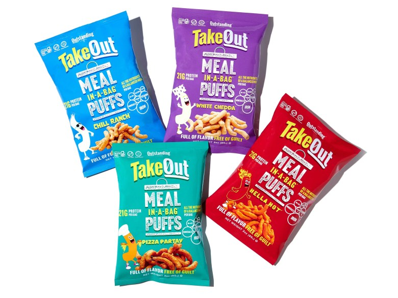 TakeOut puffs from Outstanding Foods