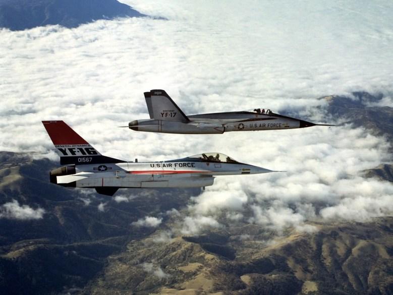 Air Force F-16 YF-16 YF-17