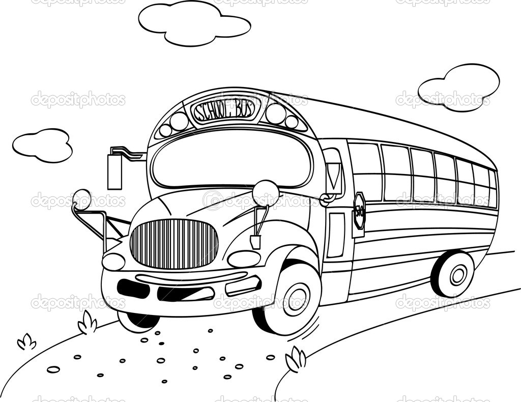 School Bus coloring page — Stock Vector © Dazdraperma #6149038