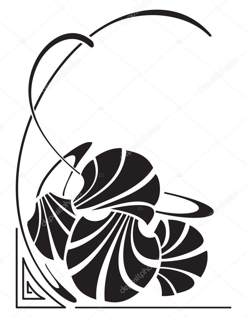 Art nouveau — Stock Vector © jannet #5563023