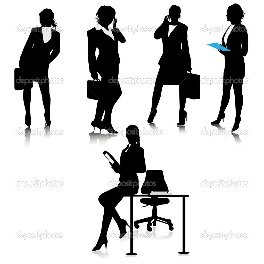 Office Business Lady Silhouettesctor