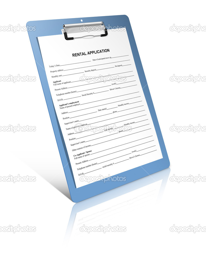Rental Application Form — Stock Photo