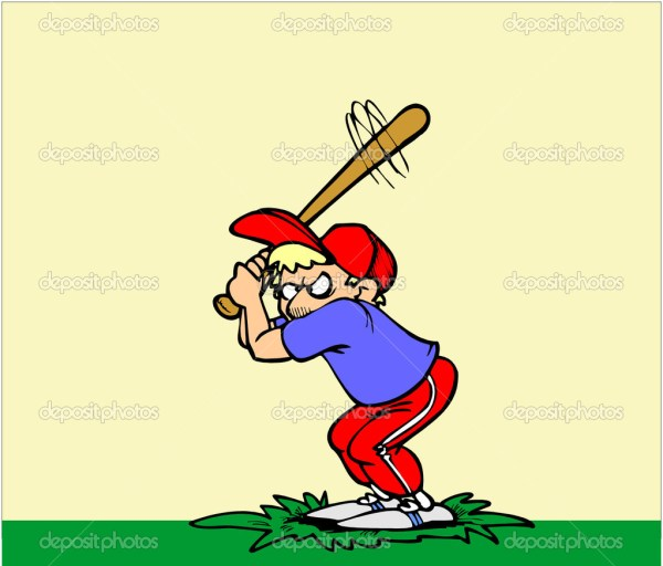 Cartoon Baseball Batter