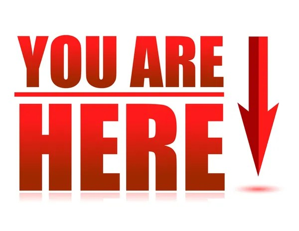 You are here arrow illustration sign — Stock Photo © alexmillos #6417185