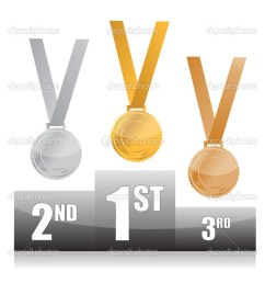 olympic medal podium clip art podium with gold silver and bronze medals [ 1005 x 1023 Pixel ]