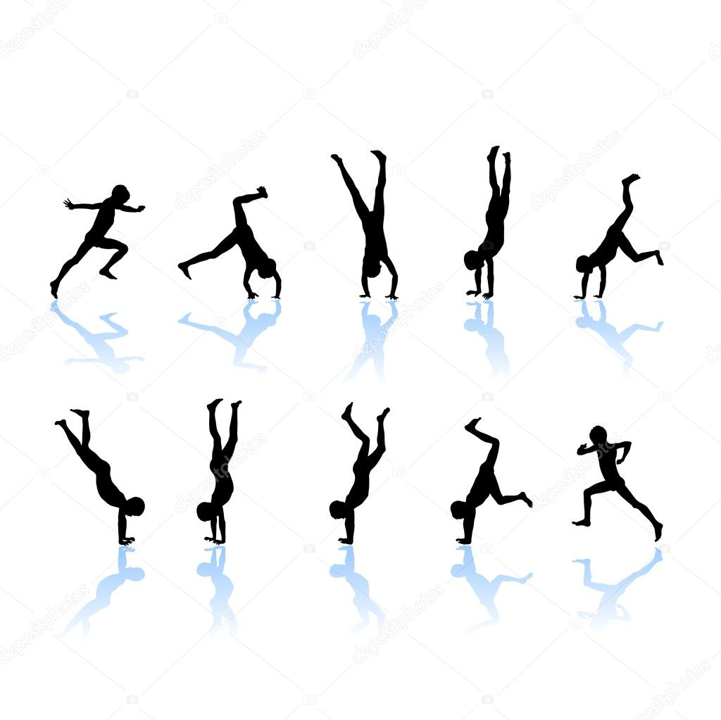 Little Gymnast Silhouettes