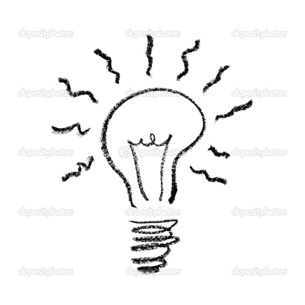 Handdrawed Light Bulb Symbol