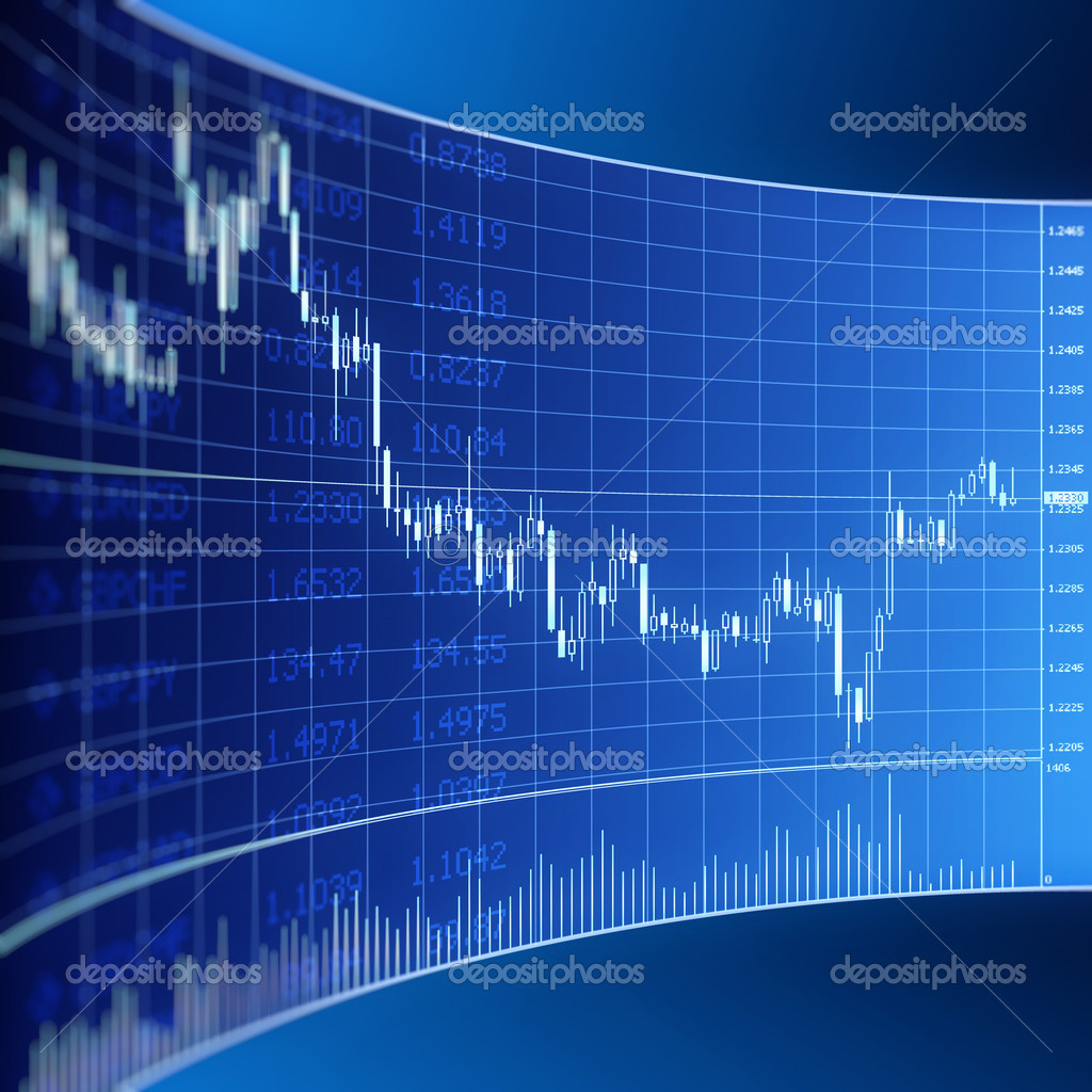 Forex graphic for currency trading  Stock Photo  SergeyIT 6216680