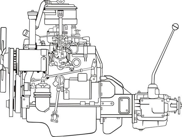 Engine contour — Stock Vector © kokandr #5621963