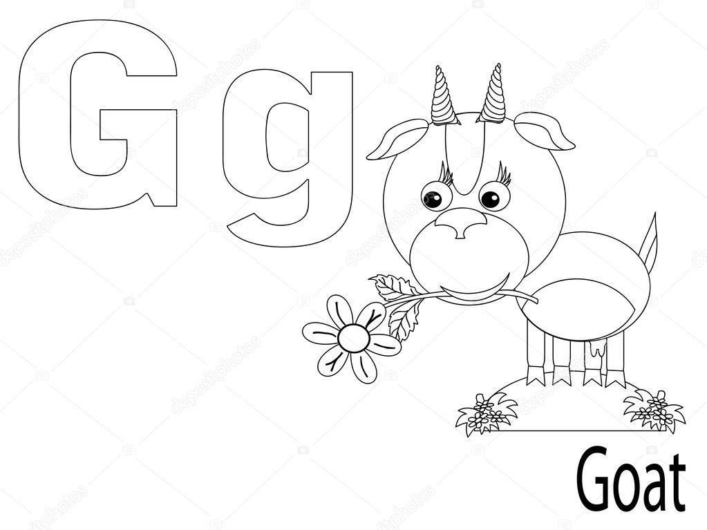 Coloring Alphabet for Kids G — Stock Vector © Olaj775 #6401091