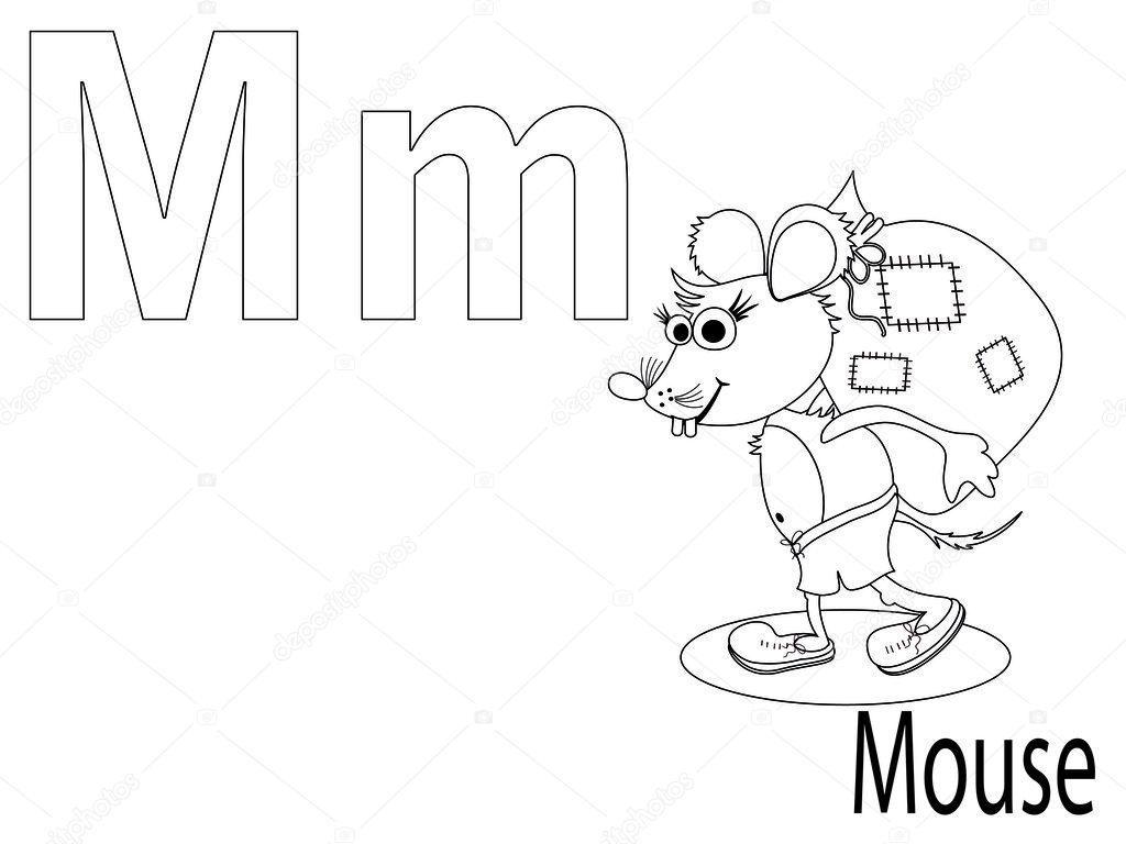 Coloring Alphabet for Kids ,M — Stock Vector © Olaj775
