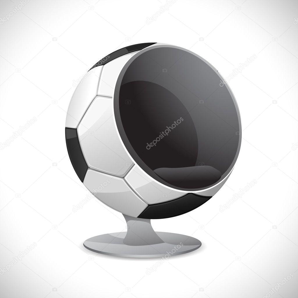 Soccer Ball Chair  Stock Vector  vectomart 6312180