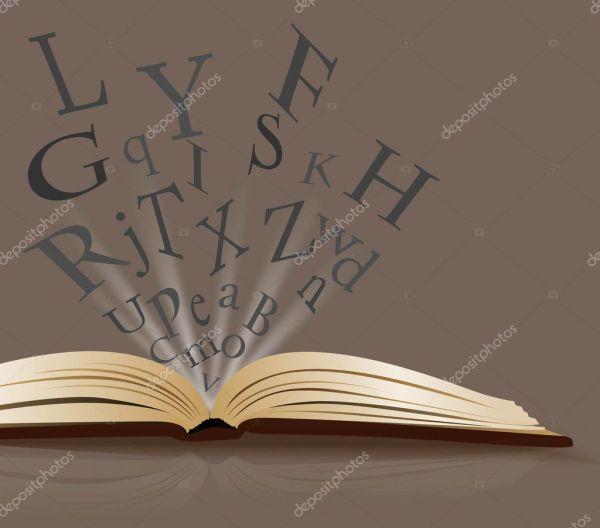 Resumen Libro Abierto Vector De Stock #5928772