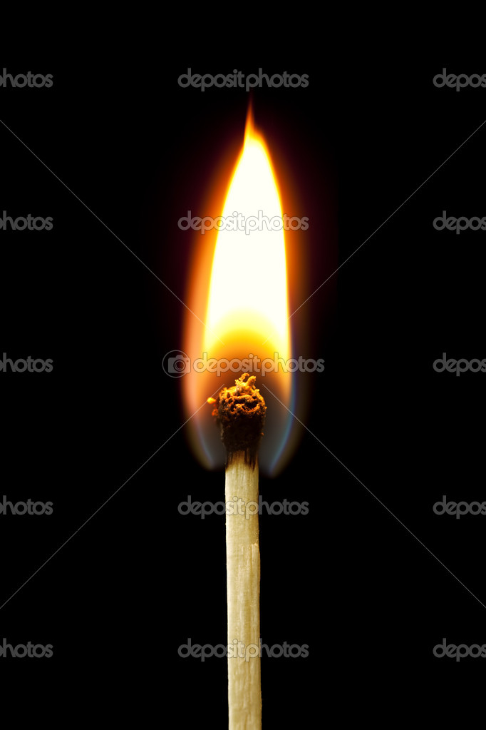 burning match stock photo